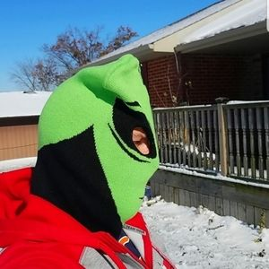 Alien Ski Mask ET Extraterrestrial Green Black new